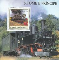 Sao Tome 2003  Old Steam Trains - Sao Tome And Principe