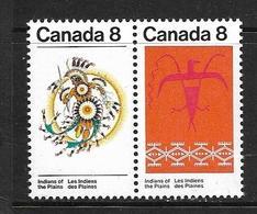 CANADA 1972 INDIENS DES PLAINES  YVERT N°483/84 NEUF MNH** - 1952-.... Regno Di Elizabeth II