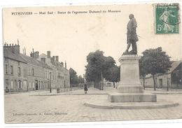 """PITHIVIERS . MAIL SUD . STATUE DE L'AGRONOME """" DUHAMEL DU MONCEAU """" AFFR SUR RECTO LE 6-3-1914 - Pithiviers"""