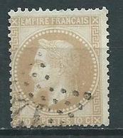 Timbre Type Napoleon III 1867 Yvt 28A Oblitéré Brun Clair - 1863-1870 Napoléon III Lauré