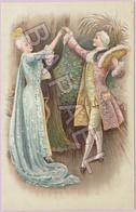 Couple Danse Le Menuet En Tenue D'Époque (2) (Recto-Verso) - 1900-1949