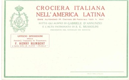 CROCIERA ITALIANA NELL'AMERICA LATINA SPEDIZIONI F.HENRY HUMBERT - 1900-44 Vittorio Emanuele III
