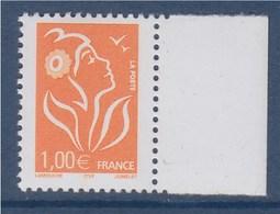 = Marianne De Lamouche ITVF 1.00€ Orange N° 3739a Neuf Gommé, Avec Bord De Feuille - 2004-08 Marianne Of Lamouche