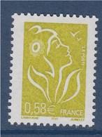 = Marianne De Lamouche ITVF 0.58€ Jaune Olive N°3735 Neuf Gommé - 2004-08 Marianne Of Lamouche