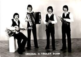 Original 4 Tiroler Buam - Walchsee, Tirol - Mit Autogrammen (47743-1) * 4. 2. 1972 - Österreich