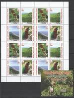 VV801 2017 TONGA FAUNA BIRDS PARROTS EUA NATIONAL PARK !!! MICHEL 92 EURO !!! 1SH+1BL MNH - Perroquets & Tropicaux