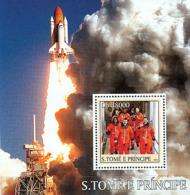 "Sao Tome 2003   Shuttle ""Columbia""  ,space ,astronauts - Sao Tome And Principe"