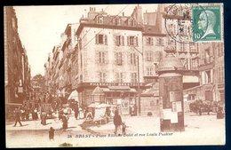 Cpa Du 29  Brest Place Etienne Dolet Et Rue Louis Pasteur    JM15 - Brest