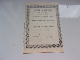 IMMOBILIERE DU COLISEE (nimes-gard) - Aandelen