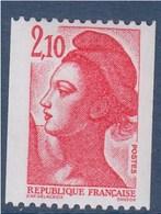 = Type Liberté De Delacroix  2.10f  Rouge Roulette Neuf 2322 - Rollo De Sellos