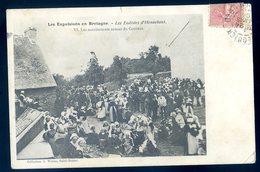 Cpa Du 56  Les Eudistes D' Hennebont Les Manifestants Autour Du Couvent -- Les Expulsions En Bretagne     JM15 - Hennebont