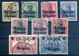 LP BELGIEN 1914, Nr. 1-9 (96800) - Besetzungen 1914-18