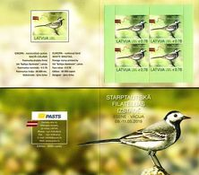 Latvia Lettland Lettonie 2019 (06) Europe - National Birds - White Wagtail (booklet) - Latvia