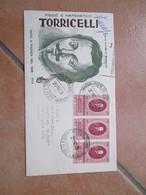 20.10.1958 ONOranze EVANGELISTA Torricelli Annullo Speciale Faenza Su FDC Venetia Raccomandate STAMPE Timbro Arrivo - 1946-60: Marcofilia