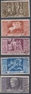 Italy PA 106-110 1937 Bimillenary Birth Of Augustus Air Mail, Used - 1900-44 Vittorio Emanuele III