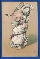 Carte Gauffrée   Bébé En Colère   écrite En 1903 - Feiern & Feste