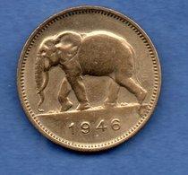 Congo- Belge   - 2 Francs 1946  - Km # 26 -  état TTB - Congo (Belgisch) & Ruanda-Urundi