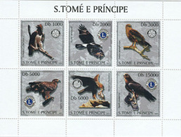 Sao Tome 2003 Fauna Eagles & Lions-Rotary - Sao Tome And Principe