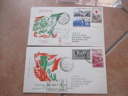 1959 Giornate Filatel.RISORGIMENTALI Celebrazioni N.2 Buste VENETIA Serie Completa Annullo Speciale - 1946-60: Marcofilia