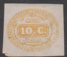 Italy PD 1 1863 Postage Due, 10c Yellow, Mint - Mint/hinged