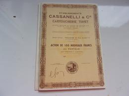 CASSANELLI & Cie (CARTOUCHERIE TUNET) Toulouse - Acciones & Títulos