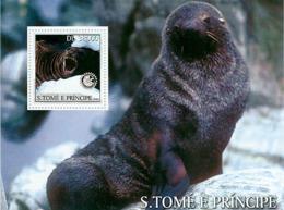 Sao Tome 2003 Fauna Seals & Lions-Rotary - Sao Tome And Principe