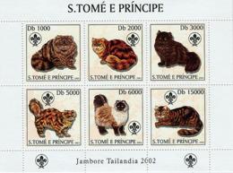Sao Tome 2003 Fauna   Cats & Scouts - Sao Tome And Principe