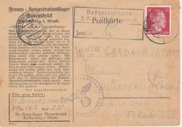 Postkarte Allemagne Timbre Hitler 1944 Tampon Croix Gammé - Deutschland