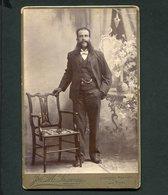 Fotografia Antiga MOÇAMBIQUE. Old CABINET Photo Men W/long Moustache. LAZARUS Lourenço Marques And Beira MOZAMBIQUE - Photographs