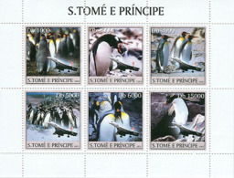 Sao Tome 2003 Fauna Penguins & Concorde - Sao Tome And Principe