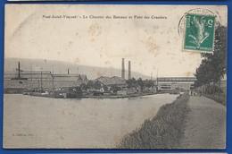 PONT-SAINT-VINCENT   Le Chantier Des Bâteaux Et Pont Des Crassiers - Frankreich