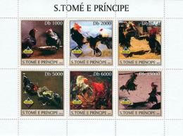 Sao Tome 2003 Fauna  Combat Cocks - Sao Tome And Principe