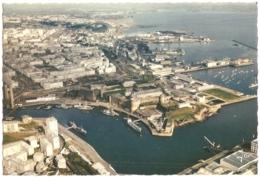 """29 - Brest - Le Château à L'entrée De La Penfeld Et Le Port De Commerce - éd. Jos """"La Bretagne En Couleurs"""" N° V. 203 - Brest"""