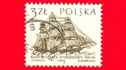 POLONIA - Usato - 1964 - Imbarcazione - Barche A Vela - Mercantile Del XIX Secolo - 3 - 1944-.... Repubblica