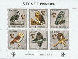 Sao Tome 2003 Fauna Owls & Scouts - Sao Tome And Principe