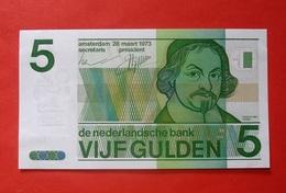 NETHERLANDS 5 GULDEN 1973 AUNCIRCULATED BANKNOTE. BILLET PAYS BAS. - [2] 1815-… : Koninkrijk Der Verenigde Nederlanden
