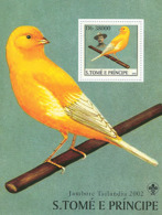 Sao Tome 2003 Fauna Canaries & Scouts, Birds - Sao Tome And Principe