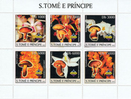 Sao Tome 2003 Orchids & Mushrooms - Sao Tome And Principe
