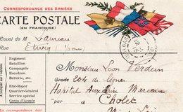 """CP - """" Correspondance Des Armées """" - 6 Drapeaux- - Guerra Del 1914-18"""