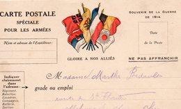 """CP - """" Spéciale Pour Les Armées """" - 6 Drapeaux- - Marcophilie (Lettres)"""