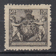 LIECHTENSTEIN - Michel - 1921 - Nr 46B (T/D: 12 1/2) - MH* - Liechtenstein
