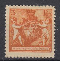 LIECHTENSTEIN - Michel - 1921 - Nr 47B (T/D: 12 1/2) - MH* - Liechtenstein