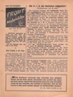 "WWII WW2 Flugblatt Leaflet Soviet Propaganda Against Germany ""Frontnachrichten"" April 1942 Nr. 173  CODE 1307 - 1939-45"