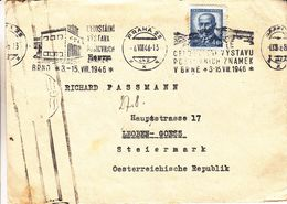Tchècoslovaquie - Lettre De 1946 - Oblit Praha - Exp Vers Steiermark - - Tschechoslowakei/CSSR