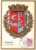 HERALDIQUE = 32 AUCH 1966 = CARTE MAXIMUM + CACHET PREMIER JOUR N° 1468 ARMOIRIES - 1960-69
