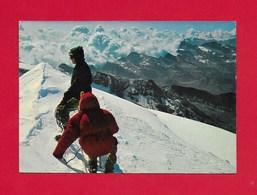 CARTOLINA VG ITALIA - CATENA DEL MONTE ROSA - Vetta Del Monte Castore - Corno Bianco - 10 X 15 - ANN. 1971 - Non Classificati