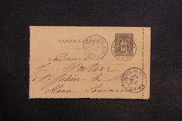 FRANCE - Entier Type Sage De Nancy Pour Saint Julien En 1897 - L 30688 - Postal Stamped Stationery