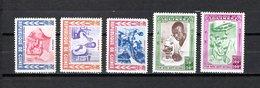 Guinea   1960  .-   Y&T   Nº    27/31    *   ( C/charniere ) - República De Guinea (1958-...)