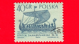 """POLONIA - Usato - 1963 - Imbarcazione - Barche A Vela - Scandinavian """"Gokstad"""" - 40 - 1944-.... Repubblica"""