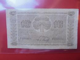 FINLANDE 10 MARKKAA 1922 CIRCULER (B.1) - Finlandia
